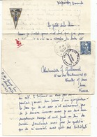 GANDON 15FR LETTRE POSTE AUX ARMEES 1951+ POUR TRAHIR UN MOT IMPRUDENT PEUT SUFFIRE + CORRESPONDANCE - Postmark Collection (Covers)