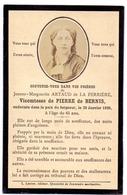 Devotie - Devotion  Image Mortuaire Noblesse Vicomtesse De Pierre De Bernis - Jeanne Artaud De La Ferrière - 1896 - Obituary Notices