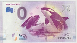 Billet Touristique 0 Euro Souvenir France 06 Marineland 2019-3 N°UEBT004805 - Privéproeven