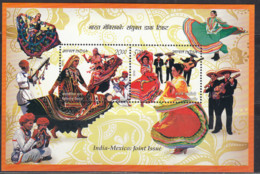 India MNH 2010 MS, Mexico Joint Issue, Culture, Dance, Music, Etc - India