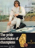 Jackie Stewart Grand Prix F1 Esso Petrol Rolex Watch Rare Advertising Postcard - Advertising