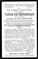 Michelbeke, 1926, Victor De Temmerman, Claus - Images Religieuses