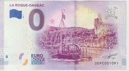 Billet Touristique 0 Euro Souvenir France 24 La Roque-Gageac 2019-1 N°UEPC1091 - EURO