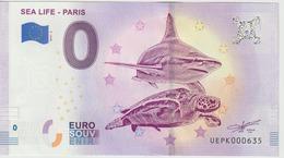 Billet Touristique 0 Euro Souvenir France 75 Sea Life Paris 2019-2 N°UEPK000635 - EURO