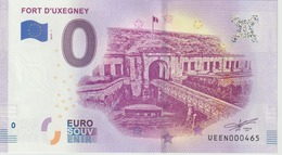 Billet Touristique 0 Euro Souvenir France 88 Fort D'Uxegney 2019-1 N°UEEN000465 - Privéproeven