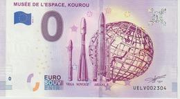 Billet Touristique 0 Euro Souvenir France Guyane Musée De L'Espace Kourou 2019-1 N°UELV002304 - Essais Privés / Non-officiels