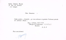 AUTOGRAPHE SUR LETTRE - BESSON - FRANCE - ATHLETISME - JEUX OLYMPIQUES  - 1968- - Authographs