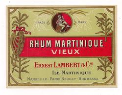 Etiquette Rhum  Martinique Vieux - Ernest Lambert ( Propriétaire De Saint-James ) - - Rhum