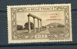 FRANCE - LUTTE ANTI-CANCEREUSE - LA BELLE FRANCE  - RIEZ (*) - Sonstige