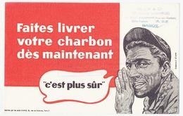 """Buvard 20.6 X 13.1 Faites Livrer Votre CHARBON Maintenant  Charbonnier  Cachet De """"ALLIX & Cie Entrepôts Charbonniers * - Carte Assorbenti"""
