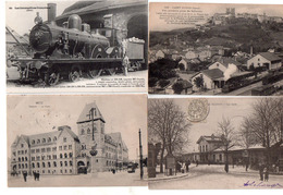 1 Lot De 15 Cartes Trains Gares Tramways 20 Euros Frais De Port Compris - Gares - Avec Trains