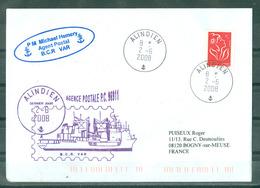 MARCOPHILIE - B.C.R. VAR AGENCE POSTALE P.C.96911 ALINDIEN Cachet Rond Du 2 - 6 - 2008 - Posta Marittima