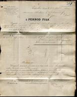 Suisse - Lettre Commerciale De Couvet - Pontarlier Avec Texte ( Pernod ) Pour La France En 1880 - Réf S45 - Suisse