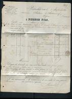 Suisse - Lettre Commerciale De Couvet - Pontarlier Avec Texte ( Pernod ) Pour La France En 1877 - Réf S49 - Suiza