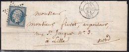 France, Paris -Yvert N° 15, Défaut, Oblitéré étoile Muette Sur LAC De 1854 - Cote 500 € - Marcophilie (Lettres)
