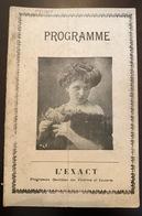 Ancien Programme L Exact Pour Le Théâtre De La Porte Saint Martin Cyrano De Bergerac - Programas