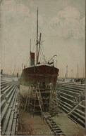 Antwerpen - Anvers / Steamer En Cale Seche (droogdok) Color 19?? - Antwerpen