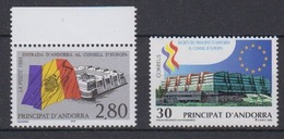 Andorra Fr. 1995 Admission Council Of Europe 2x1v ** Mnh (44561) - Europese Gedachte