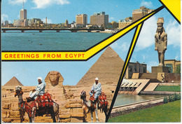 Egypt Postcard Sent To Denmark (greetings From Egypt) - Unclassified