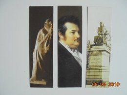 Rodin: Balzac 1897. Gerard-Seguin: Portrait De Balzac 1842 (detail). Fournier: Balzac 1889. MBA Tours 2019 - 5x17cm - Marque-Pages