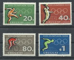 URUGUAY YVERT  733/36   MNH  ** - Uruguay