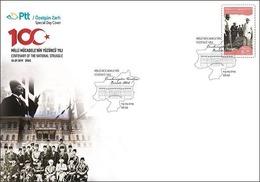 AC - TURKEY FDC - CENTENARY OF THE NATIONAL STRUGGLE SIVAS CONGRESS MUSTAFA KEMAL ATATURK Sivas, 04 SEPTEMBER 2019 - 1921-... República