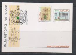 Europa Cept 1990 Malta  2v Postal Stationery London Stamp World Unused (44568) - 1990