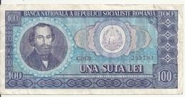 ROUMANIE 100 LEI 1966 VF P 97 - Roumanie