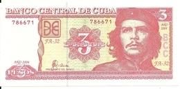 CUBA 3 PESOS 2004 UNC P 127 - Cuba