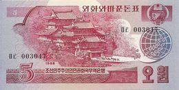 COREE DU NORD 5 WON 1988 UNC P 36 - Corée Du Nord