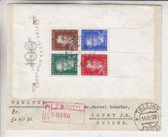 Estonie - Lettre Recom De 1938 ° - Oblit Tallinn - Exp Vers Court J.B. En Suisse - Rare - Estonia