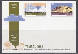 Europa Cept 1983 Malta Postal Stationery Tembal Unused ** Mnh (44570) - 1983