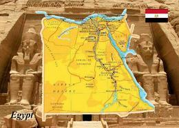 Egypt Country Map New Postcard Ägypten Landkarte AK - Sonstige