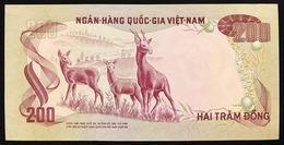 VIET NAM SOUTH 200 Dong 1972 AU/UNC Macchioline Pick#32 Lotto.2737 - Viêt-Nam