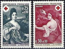 France 1968 - Mi 1647/48 - YT 1580/81 ( Red Cross : Paintings By Nicolas Mignard ) MNH** - Frankreich