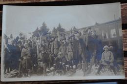 CARTE PHOTO DESCENTE DU FUNICULAIRE  AU SOMMET DU MONT REVARD 1914 - Autres Communes
