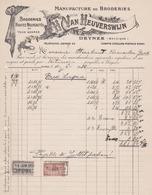 Manufacture De BRODERIES - DEINZE - H. Van HEUVERSWIJN  1926 - Belgium