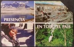 Telefonkarte Bolivien - Landschaft - Tradition - Vogel - 12/99 - Bolivië