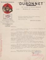 Vin - Liqueur - CHAT - *DUBONNET* - Bruxelles  1950 - Belgium