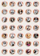 Jane Wyman Movie Film Fan ART BADGE BUTTON PIN SET 3 (1inch/25mm Diameter) 70 X - Films