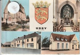 14 - Très Belle Carte Postale Semi Moderne Dentelée De USSY   Multi Vues - France