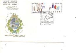 DeGaulle ( FDC De L'Uruguay De 1989 à Voir) - De Gaulle (Général)