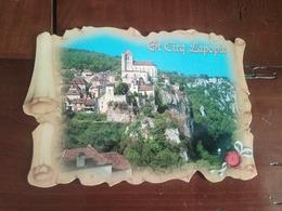 46 - Saint Cirq Lapopie - Vue Lointaine - Saint-Cirq-Lapopie