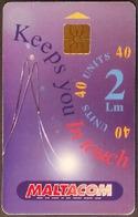Telefonkarte Malta - Werbung - Collectors Club - Malta