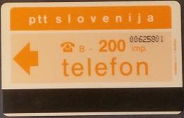Telefonkarte Slowenien - Ptt Slovenija - Werbung - Bank - Slovenië