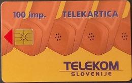 Telefonkarte Slowenien - Werbung - Landkarte - Slovenië