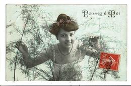 CPA-Carte Postale -France-Pensez à Moi Une Jeune Femme Dans Des Hautes Herbes En 1907  VM6144 - Femmes