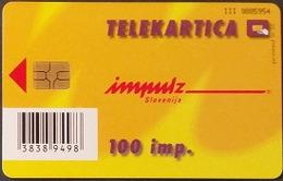 Telefonkarte Slowenien - Werbung - Frau , Lady - Slovenië