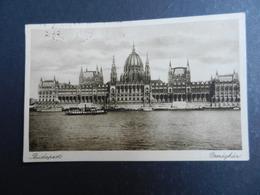 19976) BUDAPEST PALAMENT VIAGGIATA 1932 FRANCOBOLLO SOPRASTAMPATO 6 - Ungheria