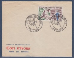 = Journée Du Timbre République De Côte D'Ivoire, Abidjan 14.10.61, Enveloppe - Côte D'Ivoire (1960-...)